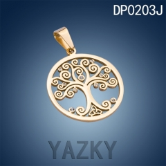 Stock available tree of life stainless steel pendant