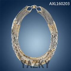 Fashion many chains necklace