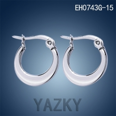 Round shape stainless steel earring in four sizes