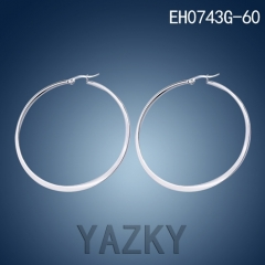 Round shape hoop earring in stainless steel