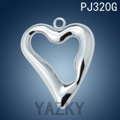 Stainless steel heart shape bracelet and necklace pendant